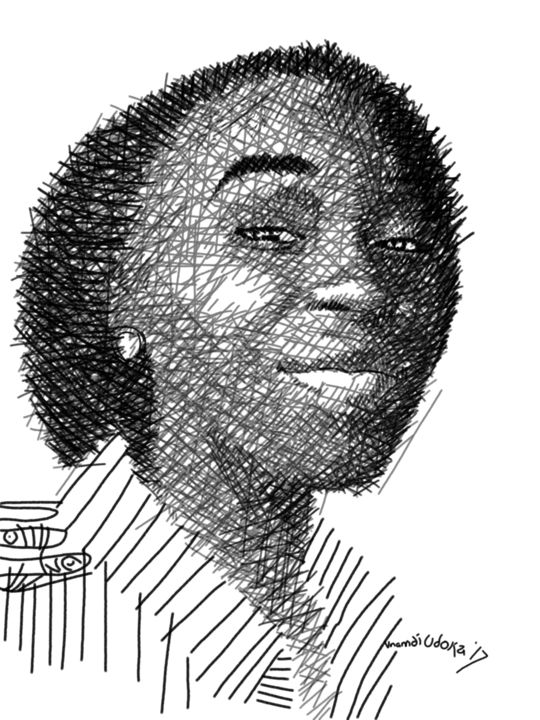 """Drawing titled """"Coerced"""" by Hector Udoka, Original Art, Digital Photography"""