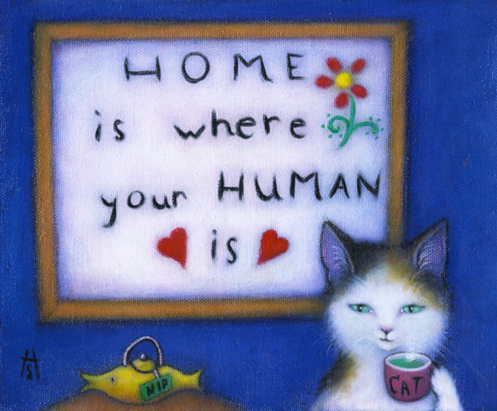 """Painting titled """"Home is where your…"""" by Heidi Shaulis, Original Art, Oil"""