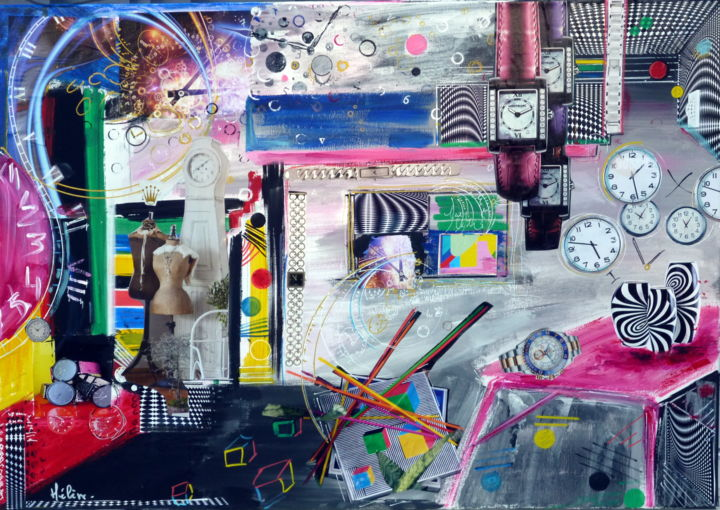 """Painting titled """"out-of-time.jpg"""" by Helene Rousselot, Original Art,"""