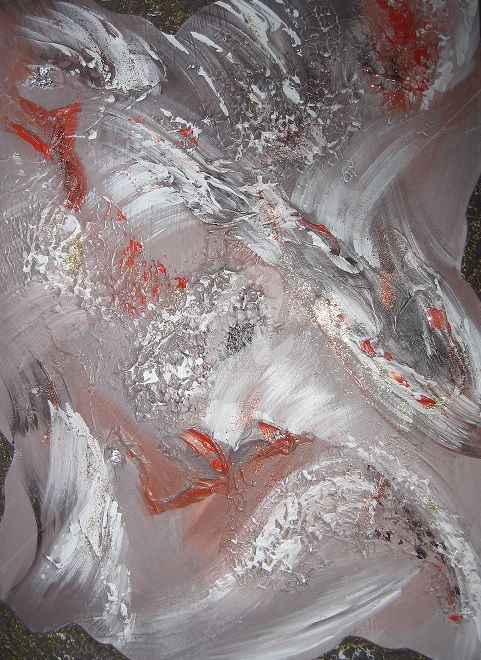 remake-don-fondation.jpg - Painting,  24x18 in, ©2014 by Hélène Fortier -                                                                                                                                                                                                                          Abstract, abstract-570, Other, Abstract Art