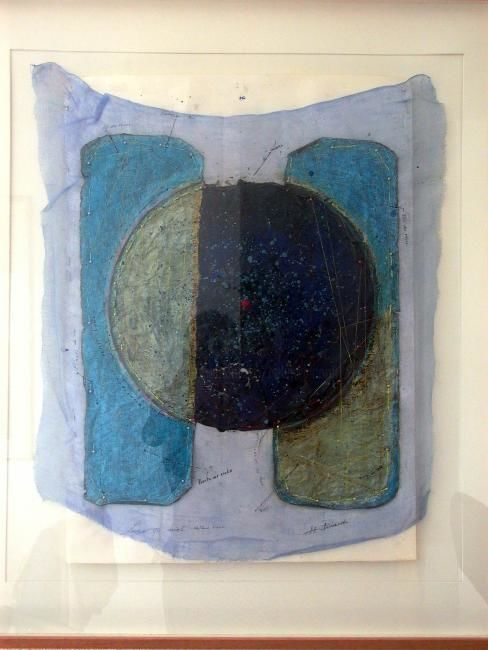 luna - Painting,  39.4x31.5 in, ©2006 by Hélène Picardi -                                                                                                                                                                          Abstract, abstract-570, composition