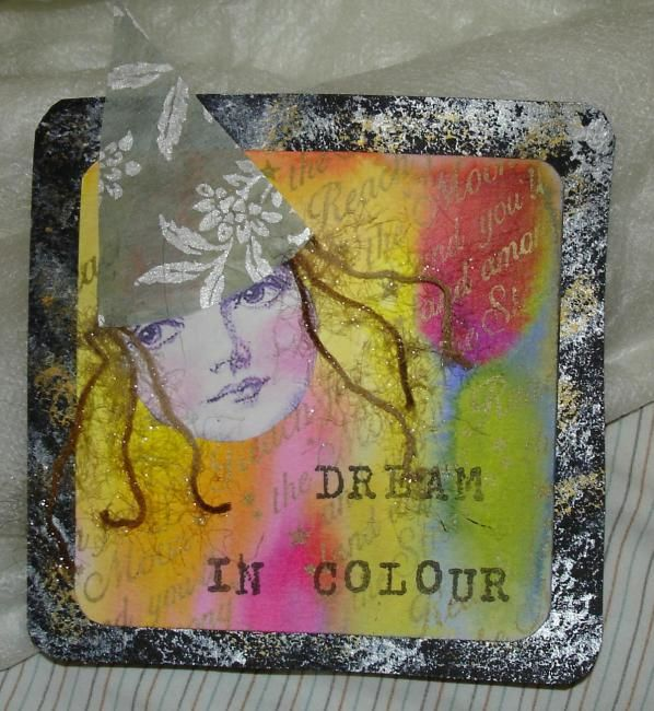 dream in colors - Mixed Media,  12x12 cm ©2006 by La fée antique -