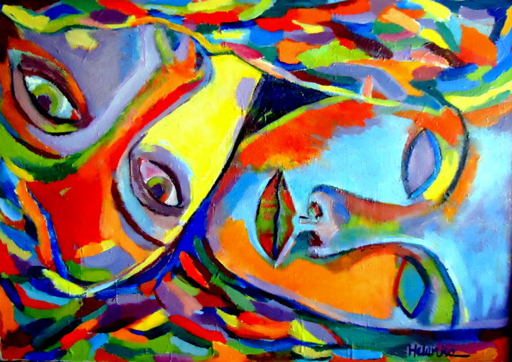 Two energies sold helenka for Sell abstract art online