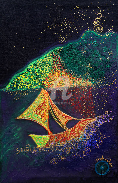 2-4-leis-nightsailer.jpg - Painting,  130x84x4 cm ©2014 by BEAUTY HEART CONCEPTS -                                                        Abstract Art, Canvas, Love / Romance