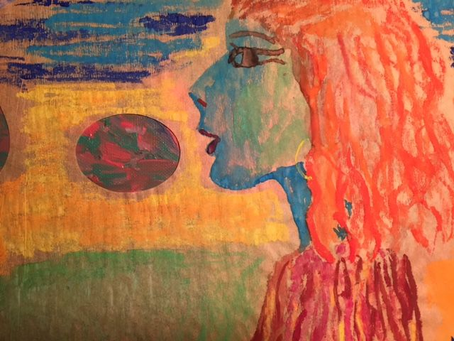 """Painting titled """"Profil égyptien 2.j…"""" by Madeleine Gendron, Original Art,"""