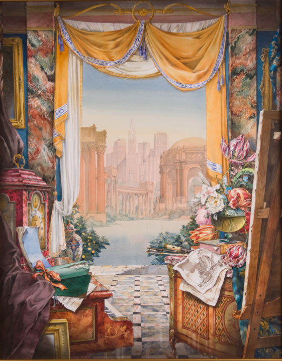 """Painting titled """"San Francisco Palac…"""" by Andrew Sievright, Original Art, Watercolor"""