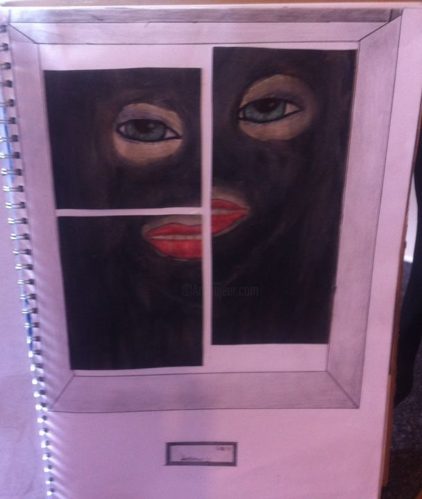 """Painting titled """"who"""" by Lallene, Original Art, Ink"""