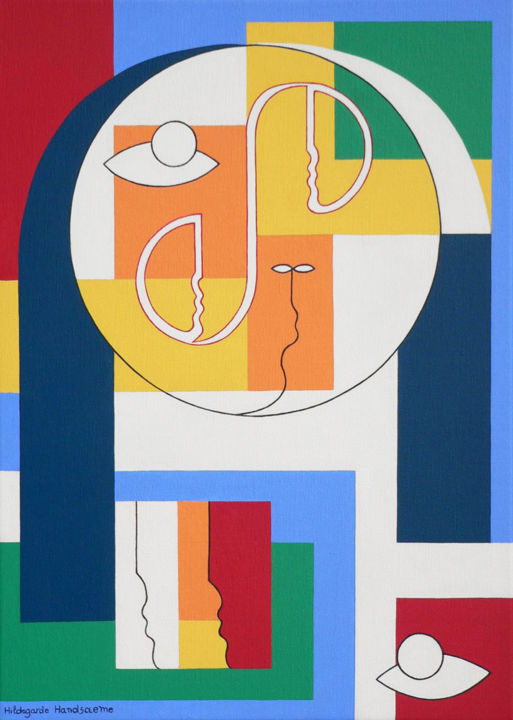 The Soul - Painting,  70x50x4 cm ©2012 by Hildegarde Handsaeme -                                                            Contemporary painting, Canvas, Spirituality, Soul