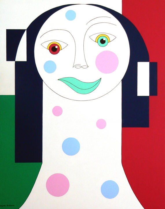 Power and Tristesse - Painting,  100x80x4 cm ©2010 by Hildegarde Handsaeme -                                                                        Contemporary painting, Figurative Art, Canvas, People, tristesse, power, original