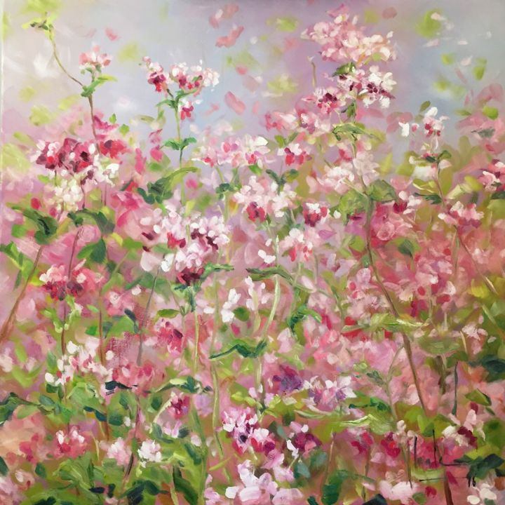 Buckwheat Flower Field Painting By Hoa L Artmajeur