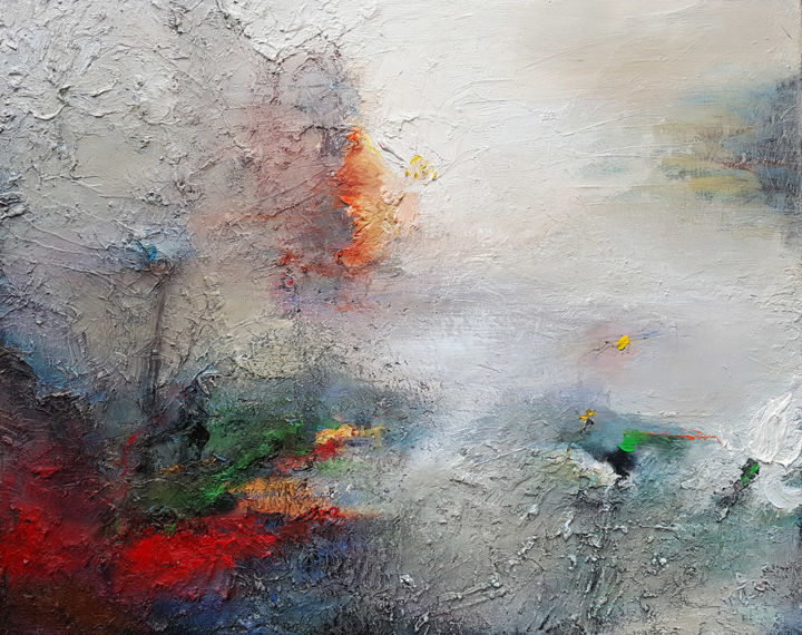 """Painting titled """"Abs-10"""" by Hoang Ha, Original Art, Oil"""
