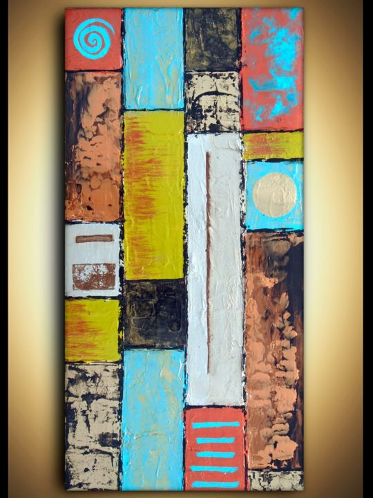 Abstract Color Block Painting Earth Tones Painting By Holly
