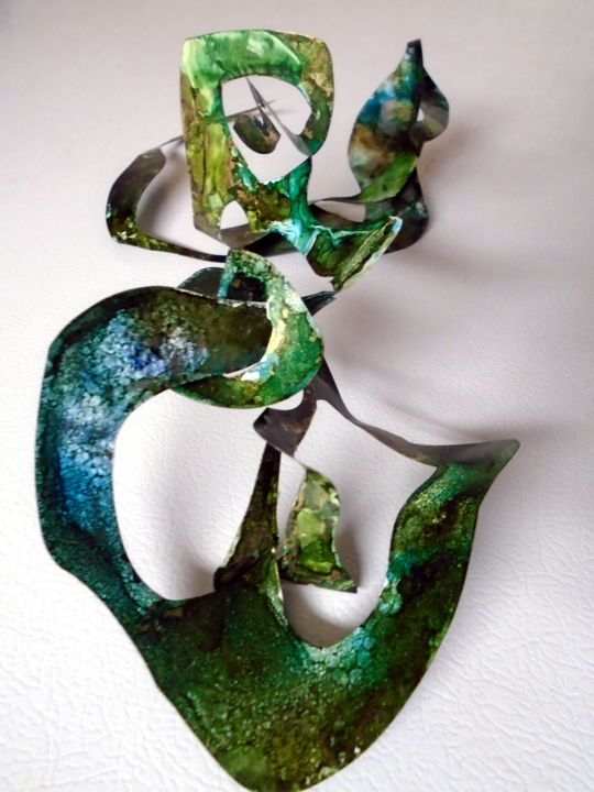 """Sculpture titled """"3-D magnetized chan…"""" by Holly Anderson, Original Art, Ink"""