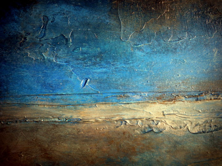 Large Abstract Painting Metal Wall Art Contemporary Art Print Pier