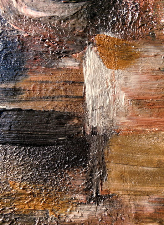 Tone And Texture In Art : Earth tone abstract painting contemporary artwork artist