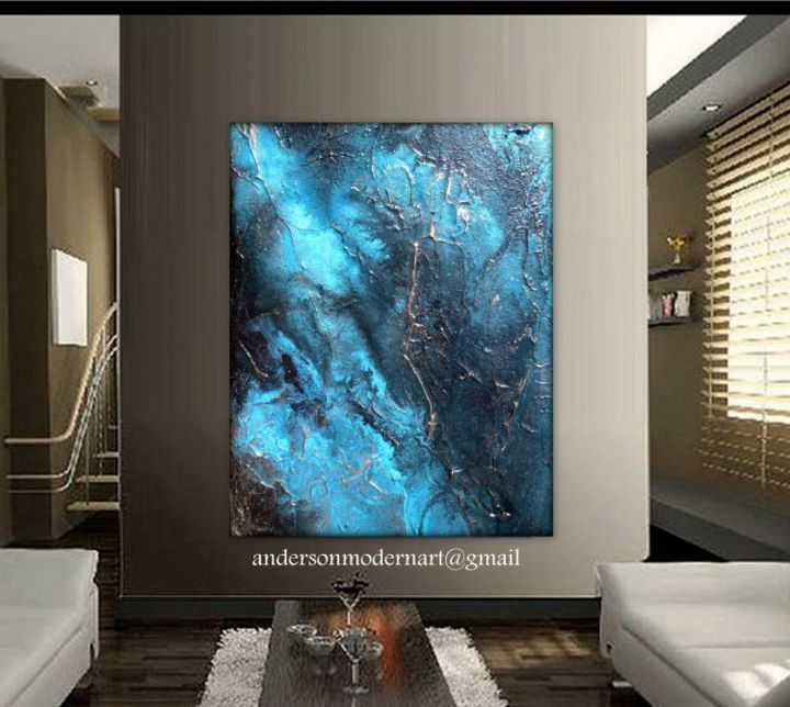 Large Wall Art, Abstract Painting, Contemporary Water Art
