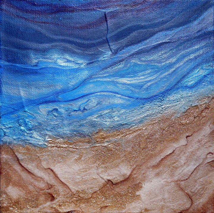 Deeper Painting 10x10x1 5 In 2016 By Holly Anderson Abstract Art
