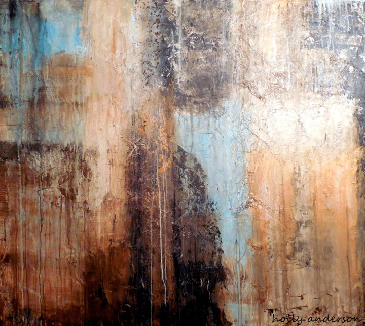 Large Wall Art Abstract Textured Painting Painting By Holly