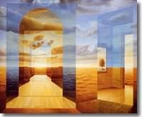 Trigal - Painting,  31.9x39.4x0.4 in, ©2004 by Homero Aguilar -