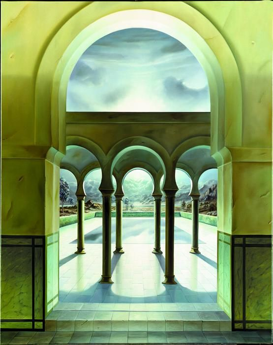 Feu Sacre - Painting,  28.7x23.6x0.4 in, ©2004 by Homero Aguilar -
