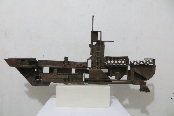 """Sculpture titled """"RELITTO 1"""" by Morgese Giovanni, Original Art, Metals"""