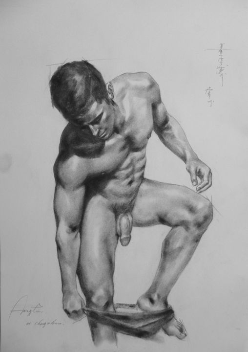 Take artistic male nude photo god those