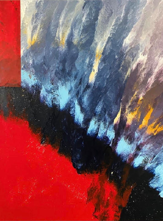 """Painting titled """"Starburst"""" by Heather Prall, Original Art, Acrylic"""
