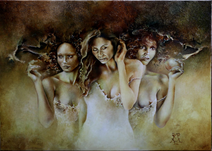 """Painting titled """"tri-gracie-3.jpg"""" by Milano H, Original Art, Oil"""