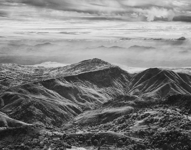 Pauma Valley from Palomar Mountain - Photography,  11x14 in ©2012 by Hugh Smith -            Infrared photograph of the Pauma Valley from Palomare Mountain