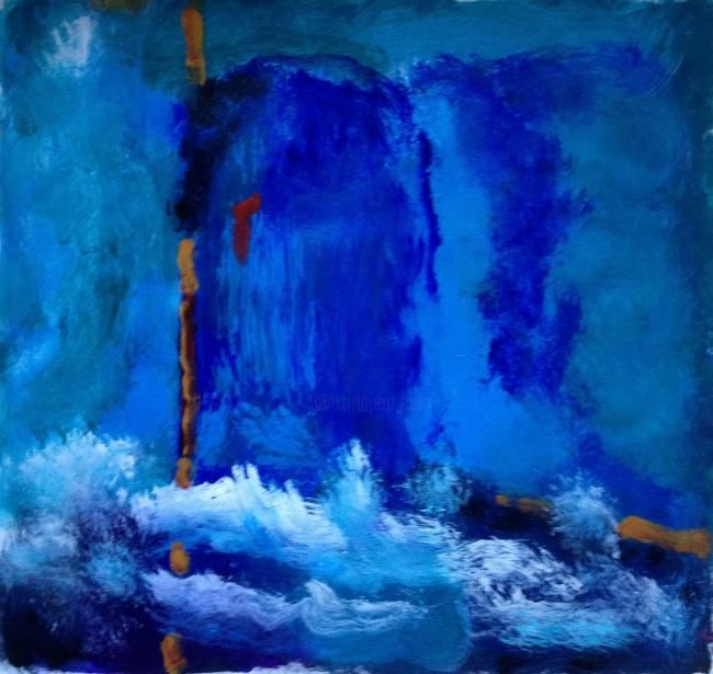 """Painting titled """"Cave"""" by Ann-Charlotte Hultberg, Original Art,"""