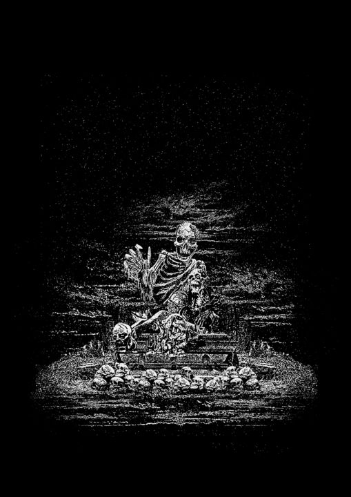 artwork for purchase for merch or cover art - Design,  19.3x13.8 in, ©2020 by Humancorpse -                                                                                                                                                                          Surrealism, surrealism-627, Black and White