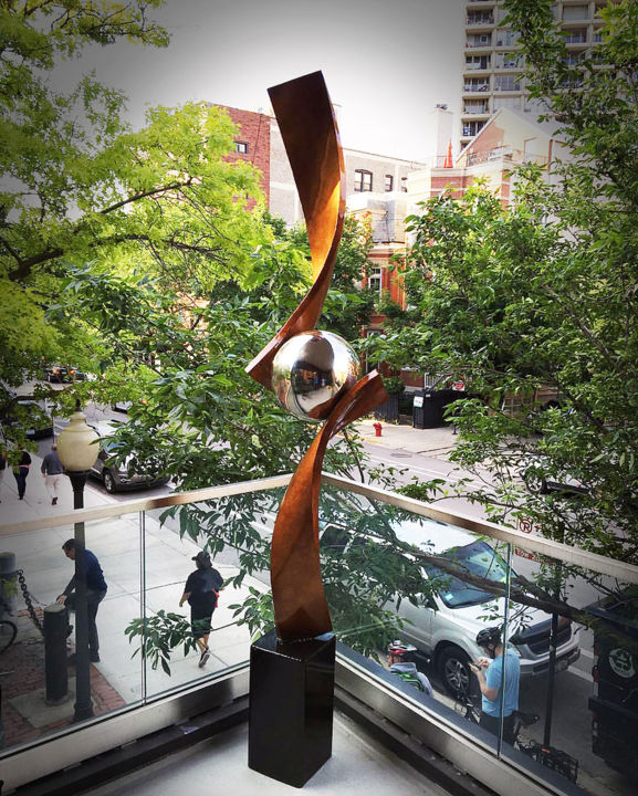 Verve' Bronze Edition - Sculpture,  104x17x18 in, ©2017 by Hunter Brown -                                                                                                                                                                                                                                                                                                                                                                                                                                                                                                                                                                                                                                                                                                                                                                              Abstract, abstract-570, Stainless Steel, Abstract Art, modern sculpture, metal sculpture, sculpture design, contemporary sculpture, stainless steel sculpture, outdoor sculpture, interior sculpture, abstract sculpture, sculpture, bronze sculpture, sculpture for sale, sculpture artist