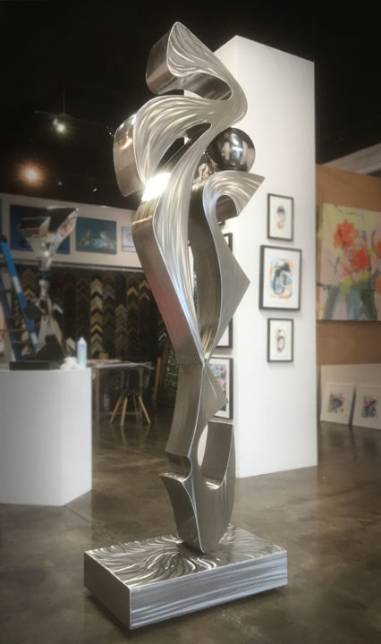 elephant-dreams-2.jpg - Sculpture,  96x30x20 in, ©2018 by Hunter Brown -                                                                                                                                                                                                                                                                                                                                                                                                                                                                                                                                                                                                                                                                                                                                  Abstract, abstract-570, Stainless Steel, Abstract Art, modern sculpture, metal sculpture, stainless steel sculpture, large sculpture, sculpture for sale, outdoor sculpture, garden sculpture, abstract sculpture, contemporary sculpture, sculpture design, sculpture gallery