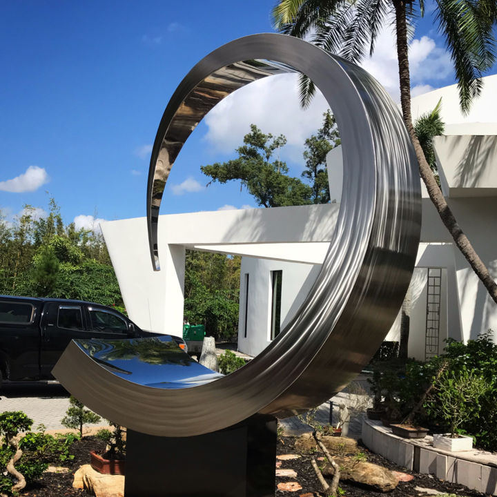 Abstract Sculpture, stainless steel, abstract, artwork by Hunter Brown