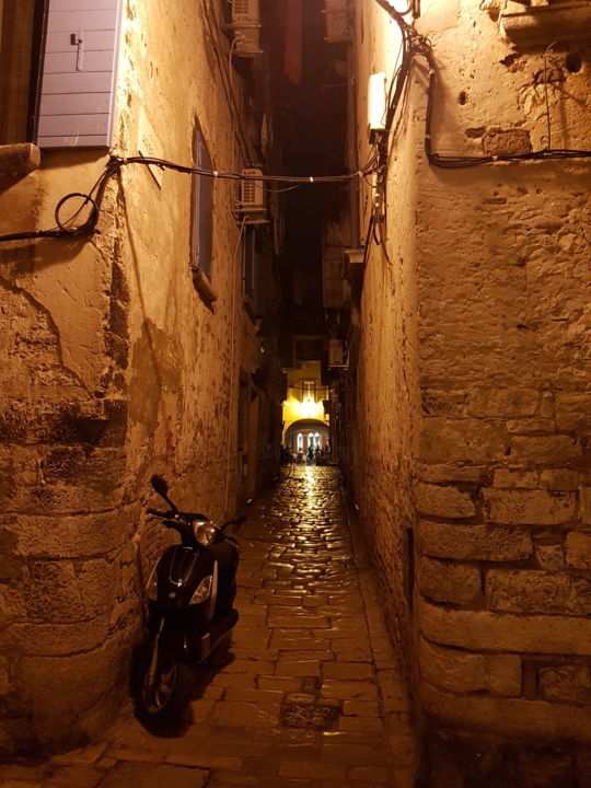 """Photography titled """"Narrow street in Ro…"""" by Igor Makeev, Original Art, Digital Photography"""