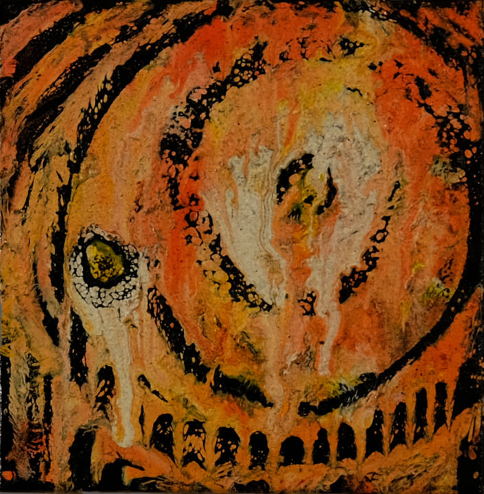 """Painting titled """"freestyle 33"""" by Iano, Original Art, Gouache"""