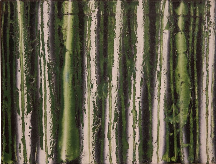 """Painting titled """"déchirures vert"""" by Iano, Original Art, Acrylic"""