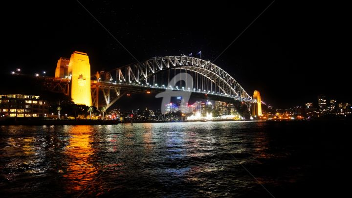 """Photography titled """"Sydney by Night - I…"""" by Ian Vernon, Original Art,"""