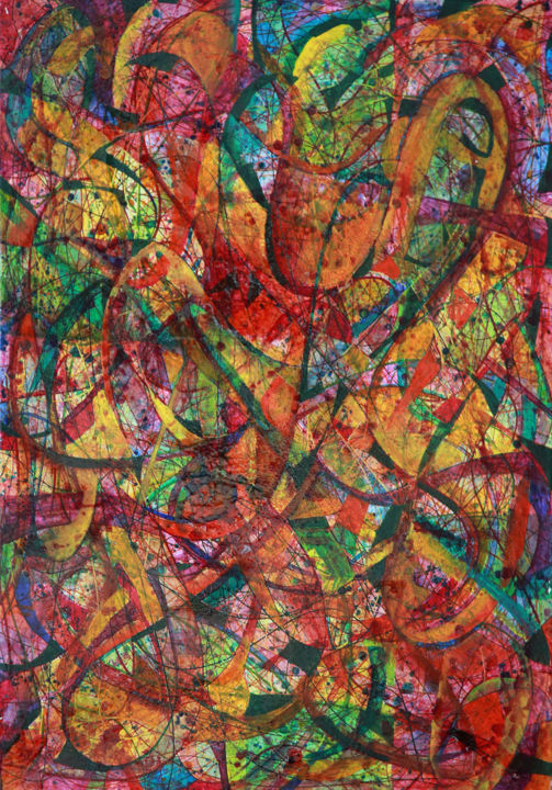 """Painting titled """"All that jazz-2012…"""" by Iason Orlandos, Original Art, Oil"""