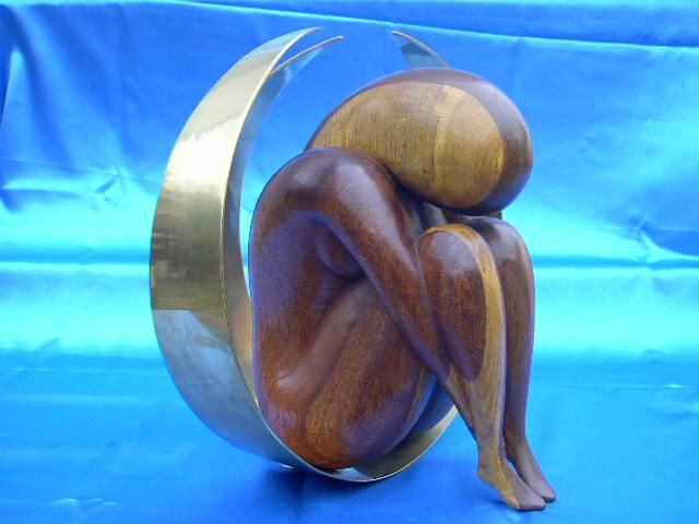 Introvertie - Sculpture,  36x30x36 cm ©2002 par Lionel Ibanez -