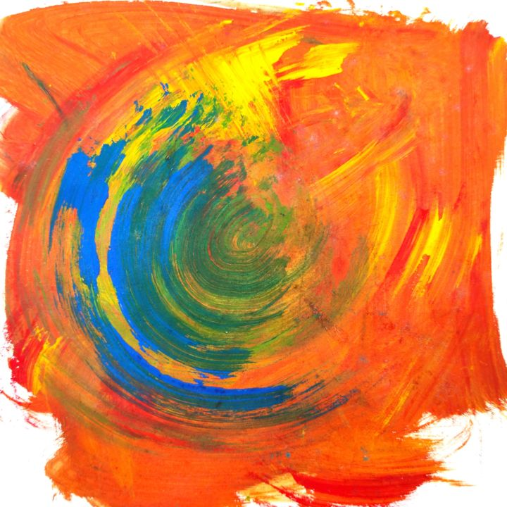 Turbulence - Painting, ©2020 by Ibolya Taligas -                                                                                                                                                                                                                                                                                                                                                                                                                                                                                                                                                                                                                                                                                                                                                                                                                                                                                                                                                                                                                                                                                                                                                                                      Abstract, abstract-570, Abstract Art, Colors, Nature, Patterns, turbulence, nature, fenomenon, motion, pattern, swirling, abstract, painting, bright, orange, colour, texture, centre, round, circular, current, fine art, wall art, design