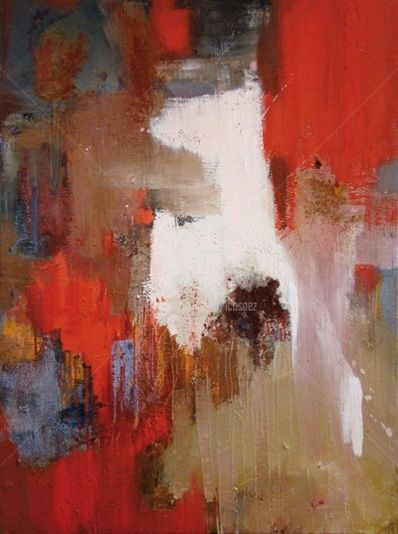 Terracotta - Painting,  51.2x38.6 in, ©2010 by Ica Saez -                                                                                                                                                                          Abstract, abstract-570, Abstract Art