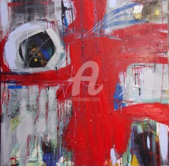 Abstraction 11 - Painting,  100x100 cm ©2010 by ica saez -                                                        Abstract Art, Canvas, Abstract Art