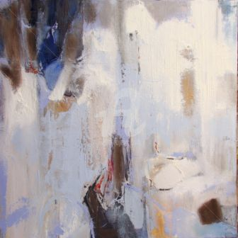 Abstraction lunaire - Painting,  100x100 cm ©2010 by ica saez -