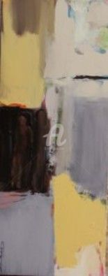 Couple - Painting,  95x38 cm ©2010 by ica saez -