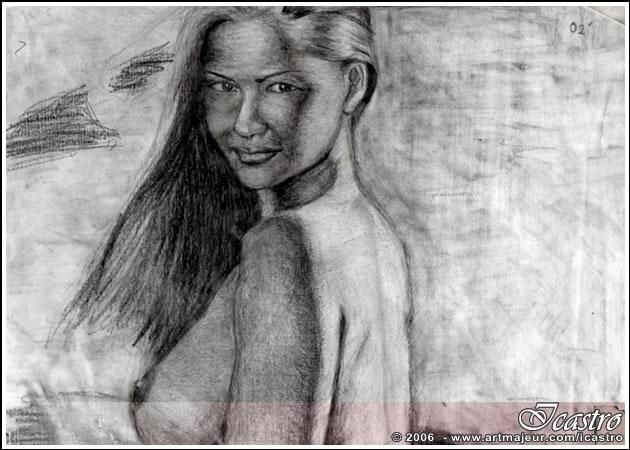 """Drawing titled """"003"""" by Icastro, Original Art,"""