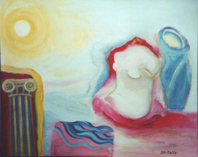 """Painting titled """"The Once goddesses-…"""" by Ida-Rally, Original Art, Acrylic"""