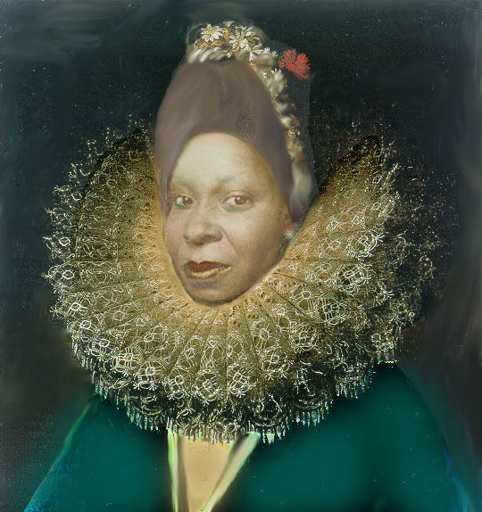 """Digital Arts titled """"that-s-whoopi-in-tu…"""" by Ida-Rally, Original Art, Photo Montage"""
