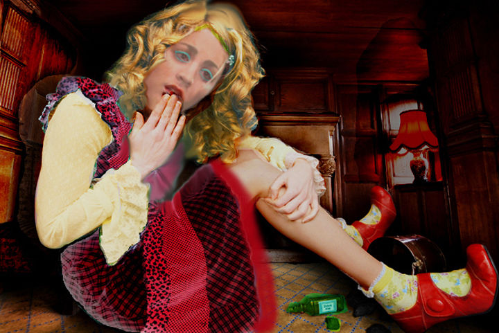 """Digital Arts titled """"alicepenny-in-the-r…"""" by Ida-Rally, Original Art, Photo Montage"""