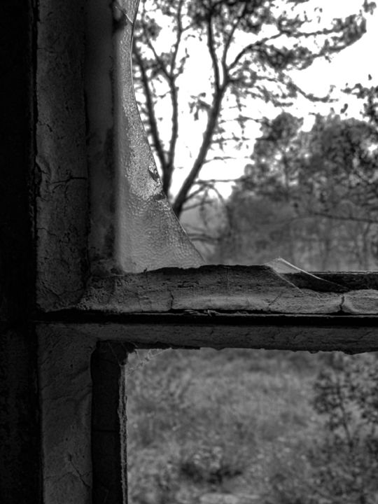 untitled-7.jpg - Photography, ©2017 by Isabelle Stagg -                                                                                                                                                                                                                                                                                                                                                                                                                                                          Figurative, figurative-594, Other, Interiors, Rural life, black and white interior, rural life, decay, Black and White